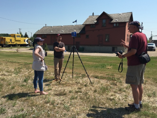 In Beiseker, Alberta, the research team met with Chris Doering, a Canadian travel writer and amateur historian.